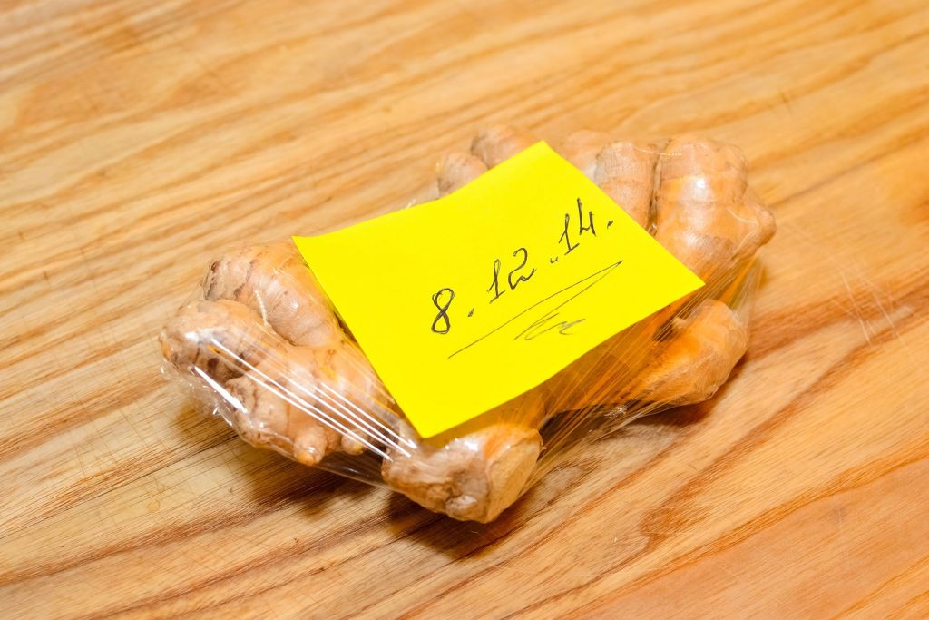 Storing ginger is simple but important.